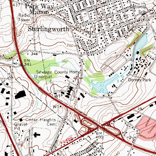 Topographic Map of Poorhouse Spring, PA