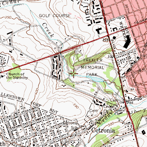 Topographic Map of Trexler Spring, PA