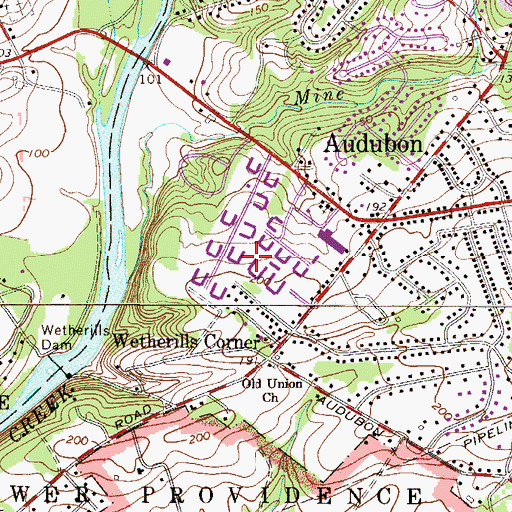 Topographic Map of Colony Arms, PA