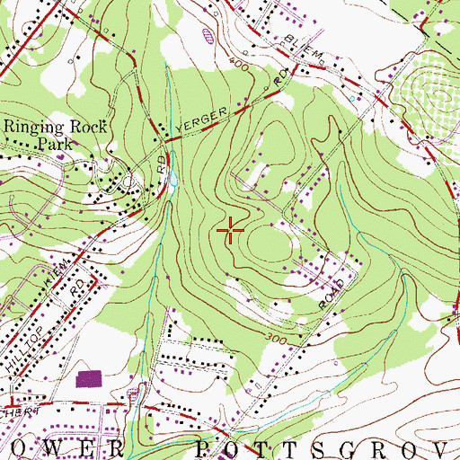Topographic Map of Alto Grandview Acres, PA
