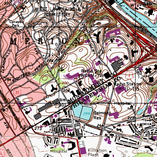 Topographic Map of Sutton Terrace, PA