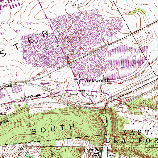 Topographic Map of Ackworth, PA