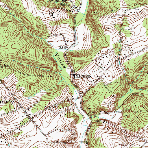 Topographic Map of Talcose, PA