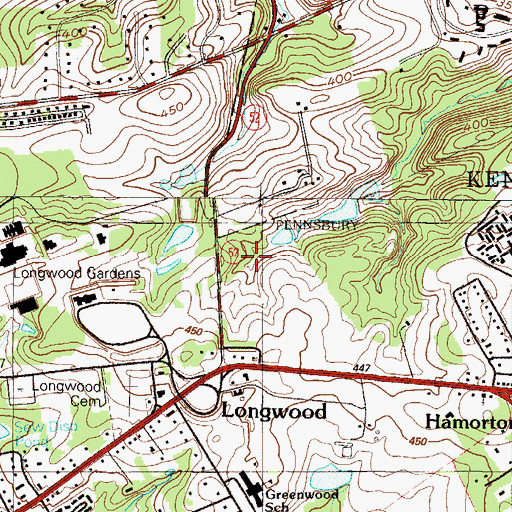 Topographic Map of Greenwood Elementary School, PA