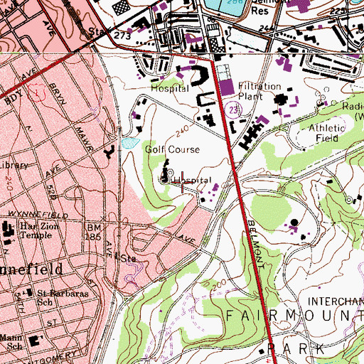 Topographic Map of Christ Church, PA