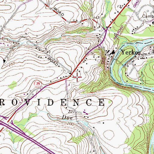 Topographic Map of Providence Mennonite Church, PA