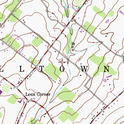 Topographic Map of Hilltown Manor, PA