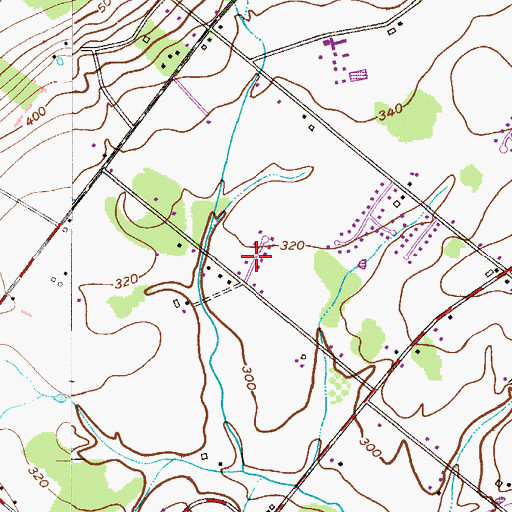Topographic Map of Tower Hill Meadows, PA