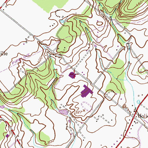 Topographic Map of Holicong Middle School, PA