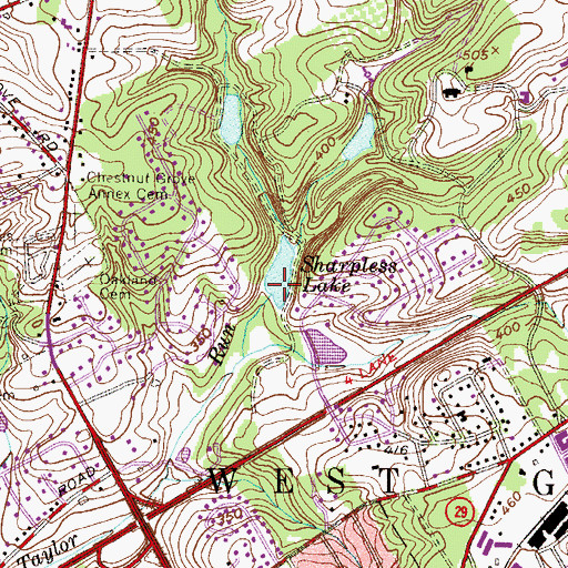 Topographic Map of Lower Dam, PA