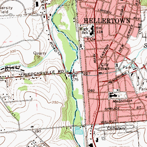Topographic Map of Kulp Dam, PA