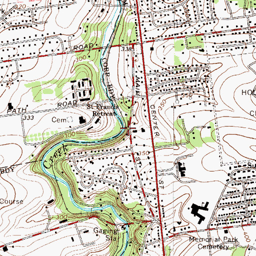 Topographic Map of Mill Dam, PA