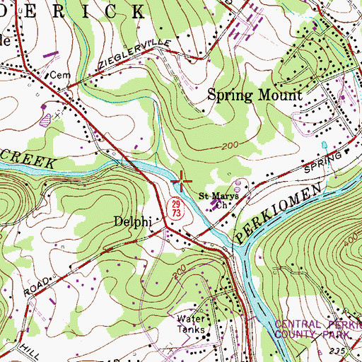 Topographic Map of Leidy Dam, PA