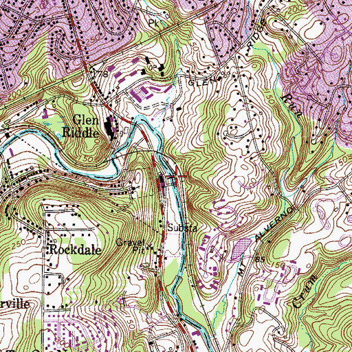 Topographic Map of Rockdale Dam, PA