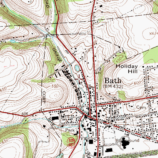 Topographic Map of Boro Meadow Park, PA