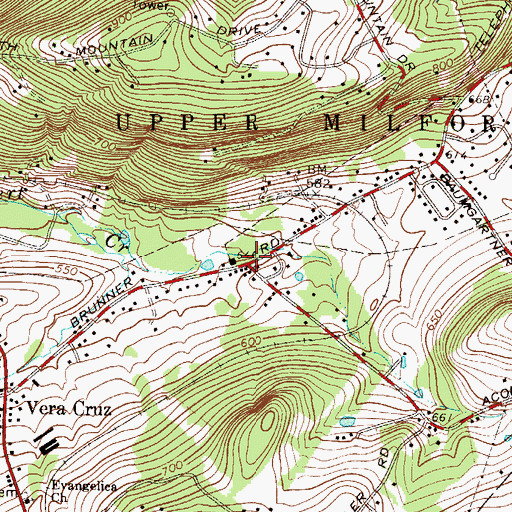 Topographic Map of Leiberts Gap, PA
