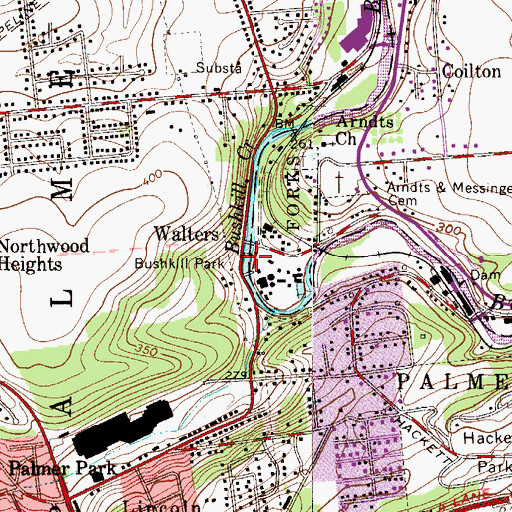 Topographic Map of Jones Mill (historical), PA