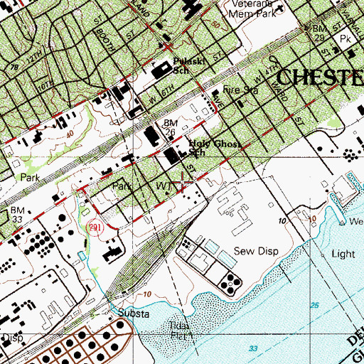 Topographic Map of Holy Ghost School, PA