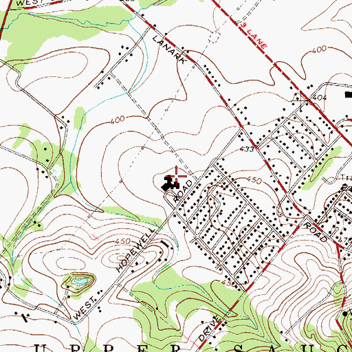 Topographic Map of Hopewell Elementary School, PA