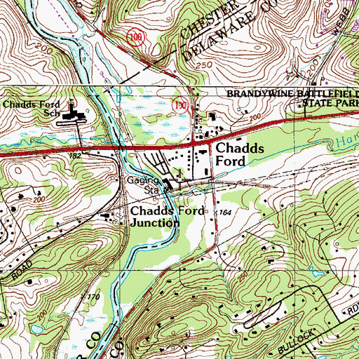 Topographic Map of Brandywine River Museum, PA