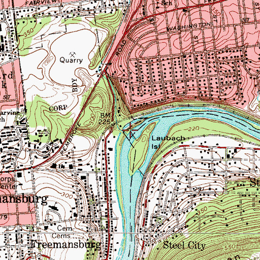 Topographic Map of Nancy Run, PA