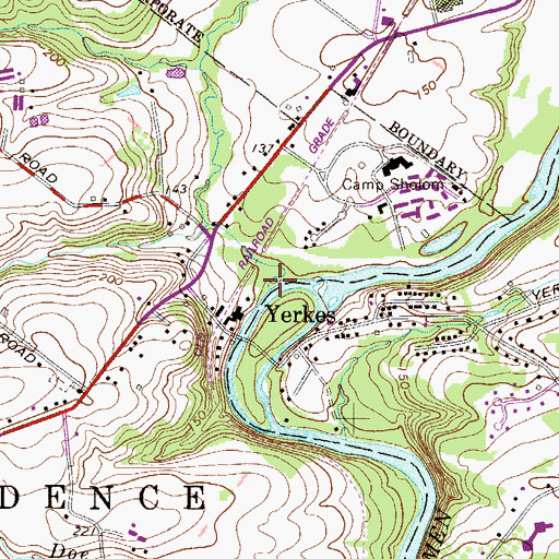 Topographic Map of Donny Brook, PA
