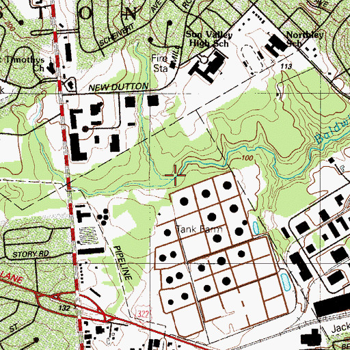 Topographic Map of Dutton Run, PA