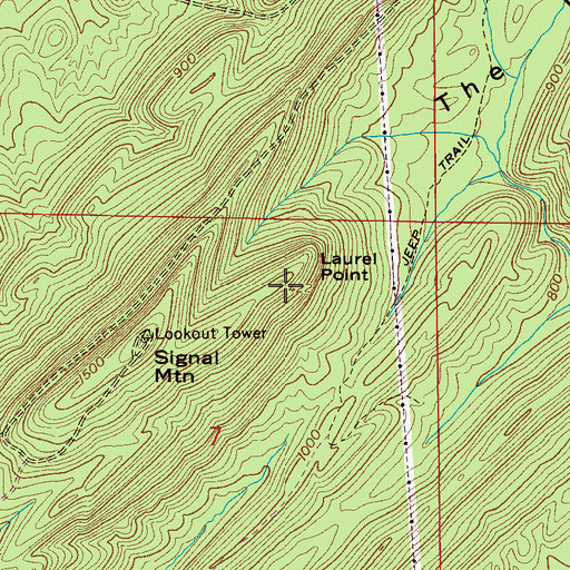 Topographic Map of Laurel Point, AL