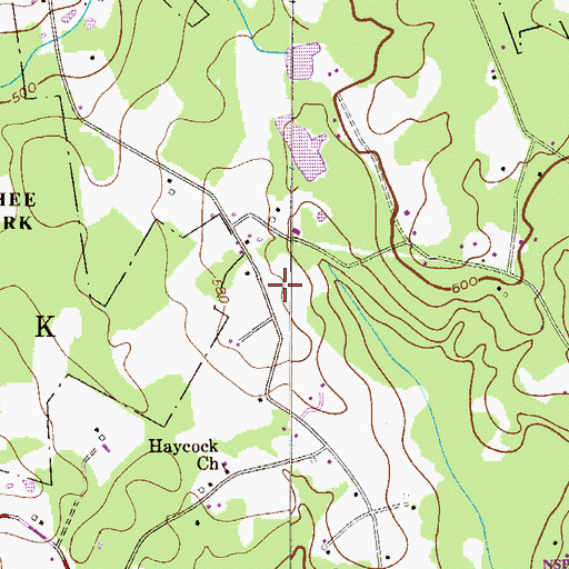Topographic Map of Township of Haycock, PA