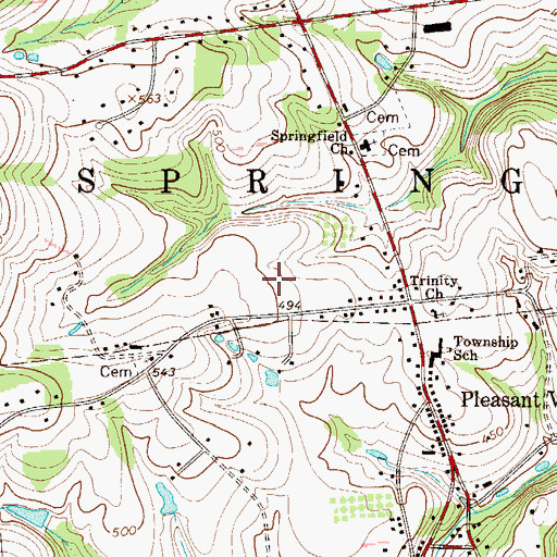 Topographic Map of Township of Springfield, PA
