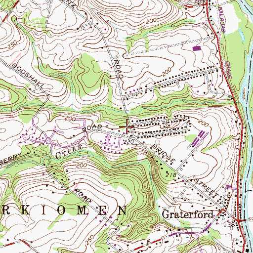 Topographic Map of Township of Perkiomen, PA