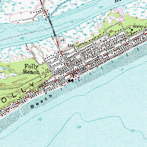 Topographic Map Of Folly Beach Sc