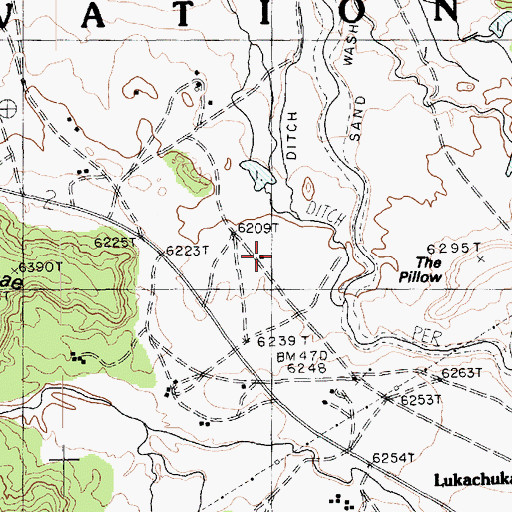 Topographic Map of The Pillow, AZ