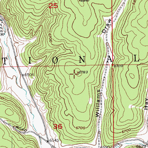 Topographic Map of Fox Flat, SD