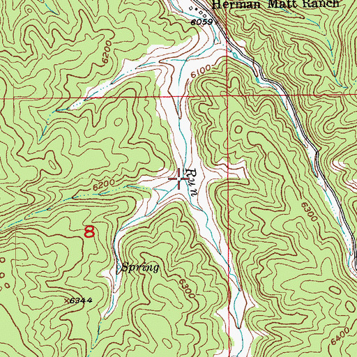 Topographic Map of Stone Draw, SD