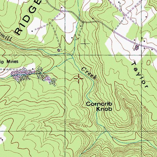 Topographic Map of Mossy Creek, TN