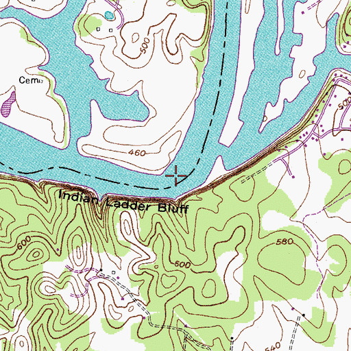 Old Hickory Lake Topographic Map.Old Hickory Lake Tn