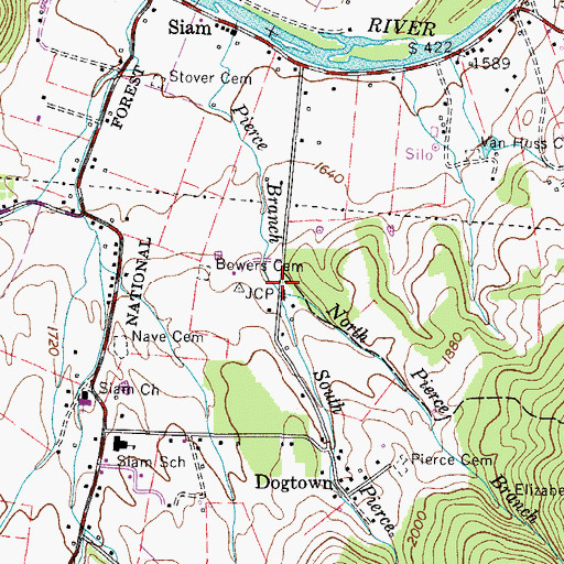 Topographic Map of South Pierce Branch, TN
