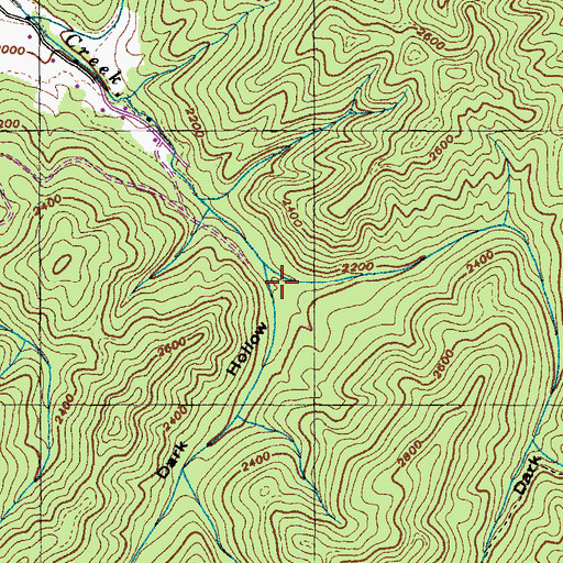 Topographic Map of Dark Hollow, TN