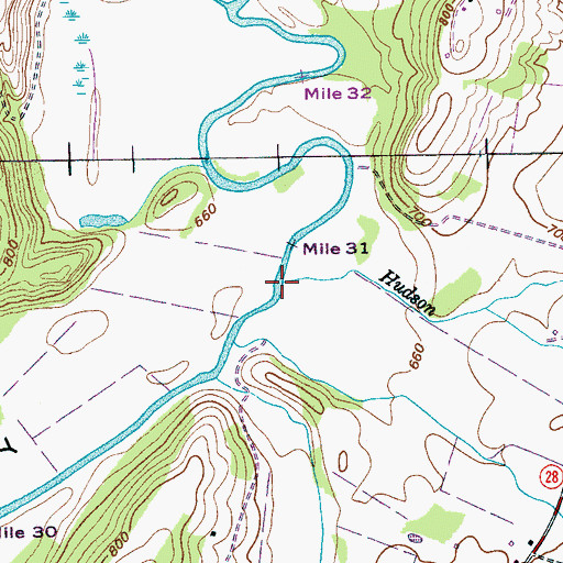Topographic Map of Hudson Branch, TN