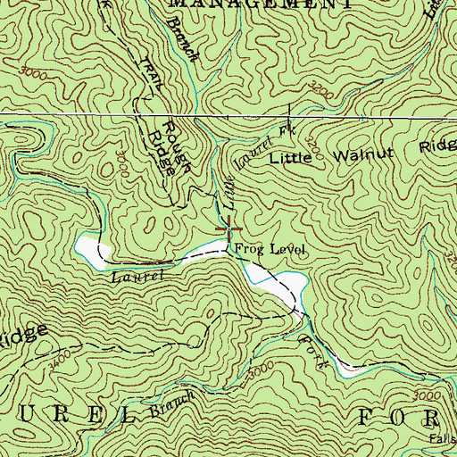 Topographic Map of Little Laurel Fork, TN