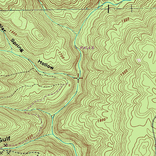Topographic Map of Poplar Spring Hollow, TN