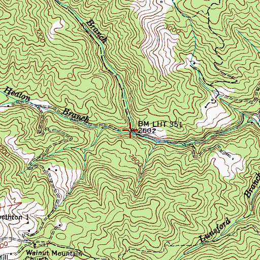 Topographic Map of Scrawls Branch, TN