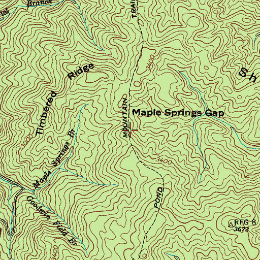 Topographic Map of The Divide, TN