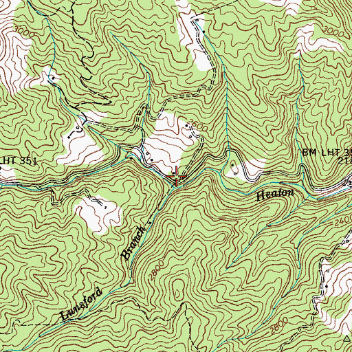 Topographic Map of Miller Chapel (historical), TN
