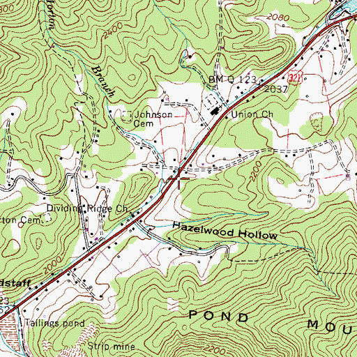 Topographic Map of Queen Station (historical), TN