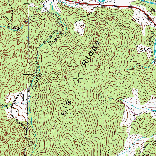 Topographic Map of Big Ridge, TN