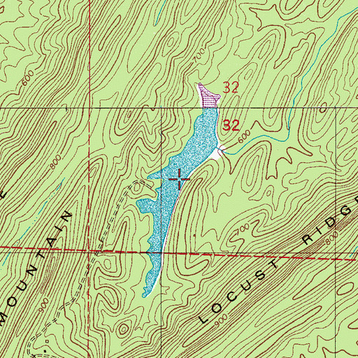 Topographic Map of Kimberly-Clark Lake, AL