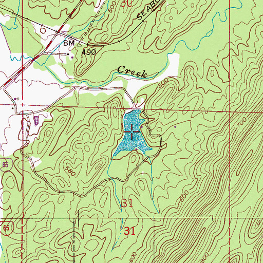 Topographic Map of Dobbin Brothers Lake, AL