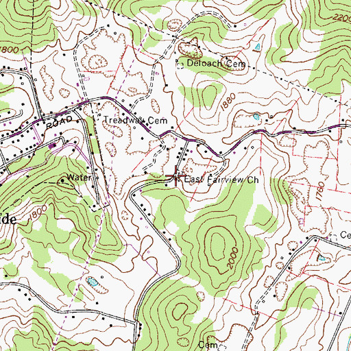Topographic Map of East Fairview Church, TN